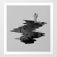Space Diving Art Print