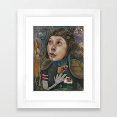 IMAGINARY ASTRONAUT Framed Art Print