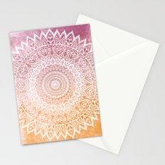 SUMMER LEAVES MANDALA Stationery Cards