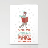 Raccoon & Pigeon Holiday! Stationery Cards