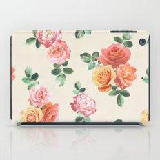Retro Peach And Pink Ros… iPad Case