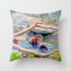 Wild Bears Throw Pillow