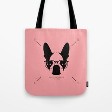 Hipster Boston Terrier Tote Bag