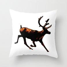 The Mighty Moose Mongoose Reindeer Elk Rentier Caribou Throw Pillow