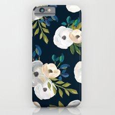 Midnight Florals - Blue & Cream iPhone 6 Slim Case