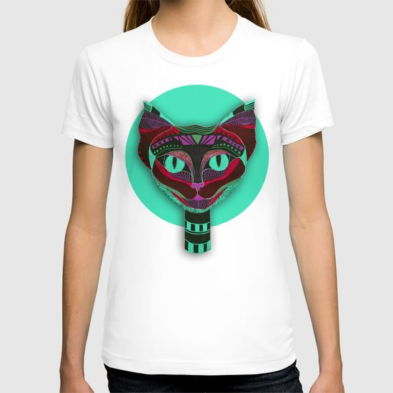 Black CAT- Black T-shirt
