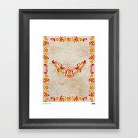 Floral Bat Framed Art Print