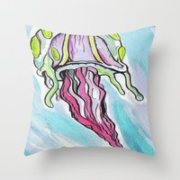 Jelly Fish #2 Throw Pillow
