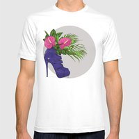 Thank you for flowers Mens Fitted Tee White SMALL