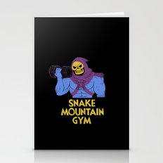 snake mountain gym Stationery Cards
