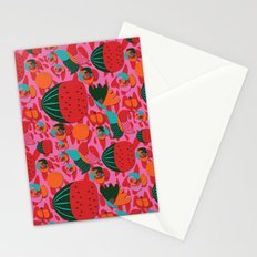 Watermelons and butterflies Stationery Cards