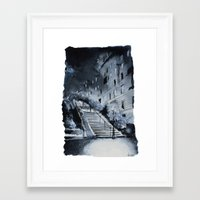 Blue Night - Paris Paint… Framed Art Print