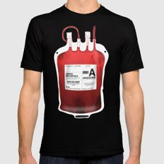 My Blood Type is A, for Awesome! *Classic* SMALL Black Mens Fitted Tee