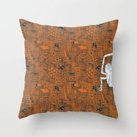 Monkey Town ! Throw Pillow