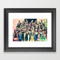 Flower Children Framed Art Print