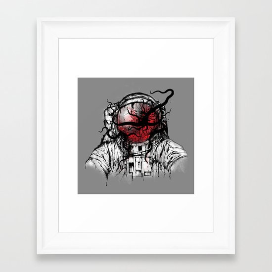 Space Parasitism Framed Art Print