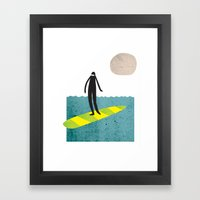 Dude Boarder Framed Art Print