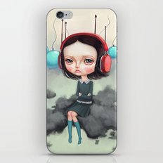 Girl Pouting On A Cloud iPhone & iPod Skin