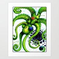 Infinity Octopus Art Print