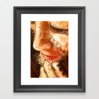 Night Pose 2 Framed Art Print