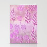 pink music Stationery Cards