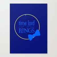Time Lord Of The Rings Canvas Print