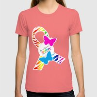 You can't have a Rainbow without the Rain - Awareness Ribbon Womens Fitted Tee Pomegranate SMALL