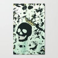 Last Laughing Skull Canvas Print