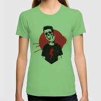 Live Fast Die Young Womens Fitted Tee Grass SMALL
