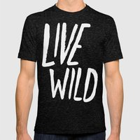 Live Wild: Oregon Mens Fitted Tee Tri-Black SMALL