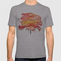Flower - Digital Painting Mens Fitted Tee Athletic Grey SMALL