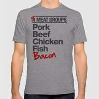 5 Major Meat Groups Mens Fitted Tee Athletic Grey SMALL