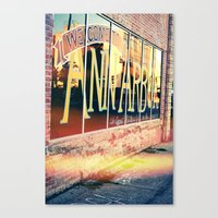 The Biggest Little City In The Middle, Ann Arbor Michigan Canvas Print
