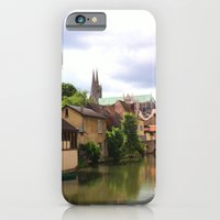 iPhone & iPod Case featuring Chartres Canal, France by Christine Haynes