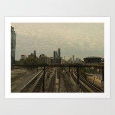 City Tracks Art Print
