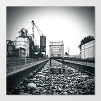 Canvas Print featuring Railway cart by Vorona Photography