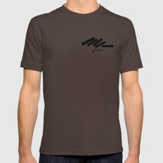 Defeated Mens Fitted Tee Brown SMALL