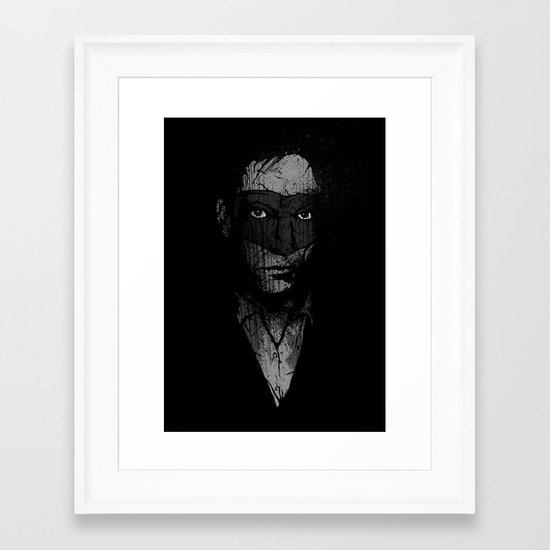 Father Hazard (Red Eyes) Framed Art Print