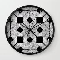 Silver Snow Wall Clock