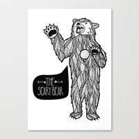 Scary Bear 2 Canvas Print
