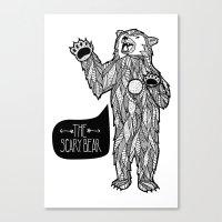 Scary Bear 2 Canvas Print