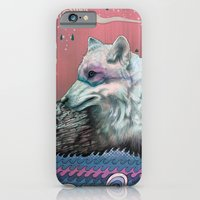 clouds iPhone & iPod Cases featuring Lone Wolf by Mat Miller