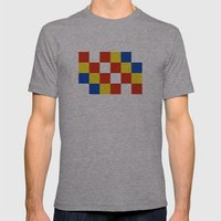Antwerp Flag Belgium Cou… Mens Fitted Tee Athletic Grey SMALL