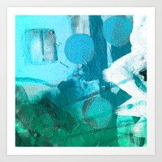 LIL' DITTY I, Blue Art Print