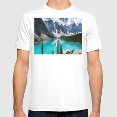 Lake Moraine Banff SMALL White Mens Fitted Tee