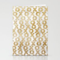 Xoxo Gold Stationery Cards