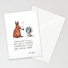 Pipe-smoking rabbit Stationery Cards