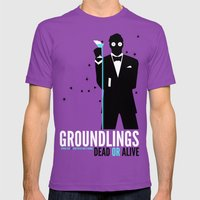 Groundlings: Dead Or Ali… Mens Fitted Tee Ultraviolet SMALL