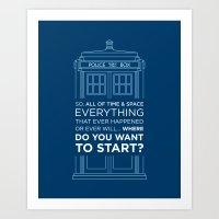 Doctor Who - TARDIS Wher… Art Print