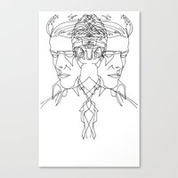 Duo Bowie Canvas Print
